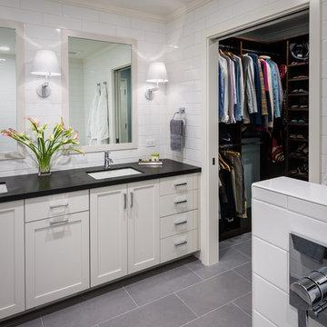Curbless Walk-in Shower - Master Bathroom