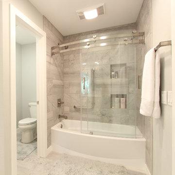 Curved Glass Sliding Shower Doors