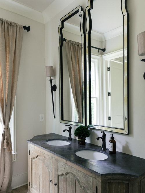 badezimmer mit onyx waschbecken waschtisch und hellem holzboden ideen design bilder houzz. Black Bedroom Furniture Sets. Home Design Ideas