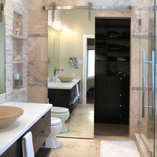 Example of a trendy bathroom design in Seattle