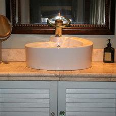 Tropical Bathroom Custom Bath Vanity