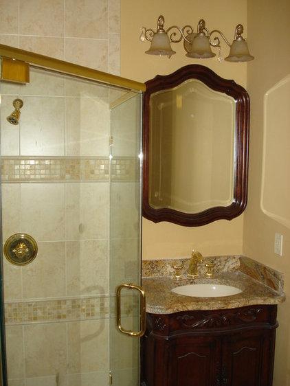 Mediterranean Bathroom by JTR  Contractors Inc.