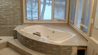 Custom built in tub and shower