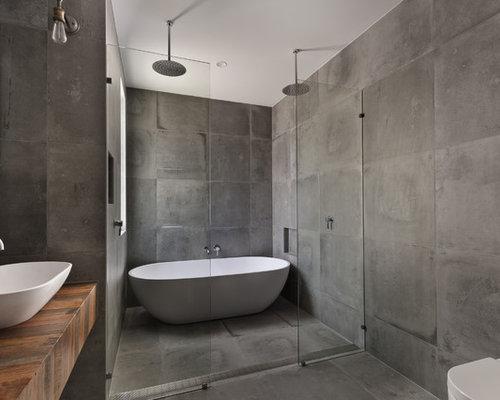 Fotos de ba os dise os de ba os industriales con ducha doble - Banos industriales ...