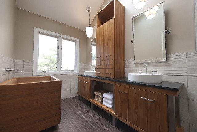 asian bathroom by superior woodcraft inc