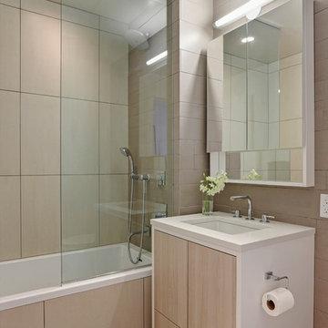 Custom Contemporary Condo Bathroom, Two12 North 9th, Brooklyn