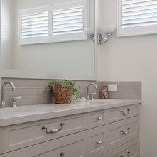 Transitional Bathroom by Orbit Homes