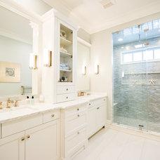 Beach Style Bathroom by Johanne Morin Design LLC