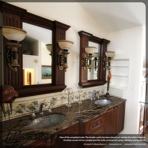 Custom Bathroom Double Vanities custom double vanity | houzz