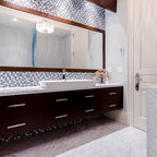 994570 together with Bathroom in addition Toronto Powder Room Sinks Traditional With Chrome Towel Rod Door Bathroom Vanities Tops Osborne And Little additionally Bathrooms With Luxury Features Pictures besides Bathroom Sconce. on double sinks mirror bathroom contemporary house in toronto