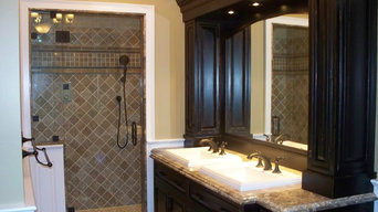 custom finished bath cabinetry