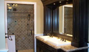 custom finished bath cabinetry