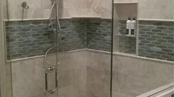 Custom glass frame-less shower