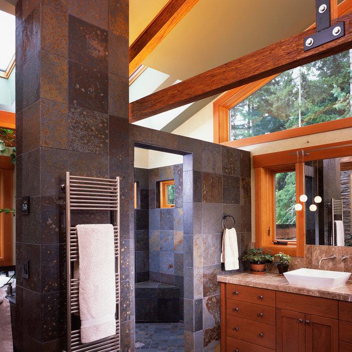Rustic Contemporary Kitchen and Bath