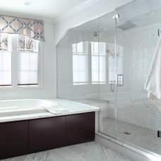 Transitional Bathroom by Durso Construction Management