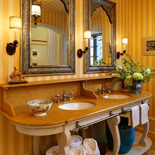 75 Beautiful Bathroom With A One Piece Toilet And Orange Countertops Pictures Ideas March 2021 Houzz