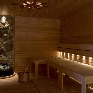 Réalisation d'un sauna design.