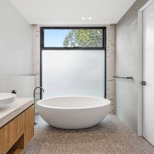 75 beautiful modern terrazzo floor bathroom pictures