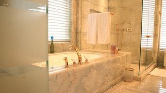 Custom Marble Bathroom - Onyx Master Bath