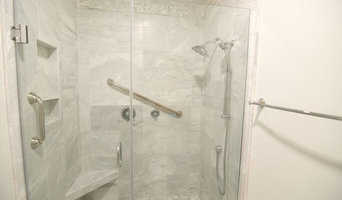 Custom Marble Shower, Full Frameless Glass