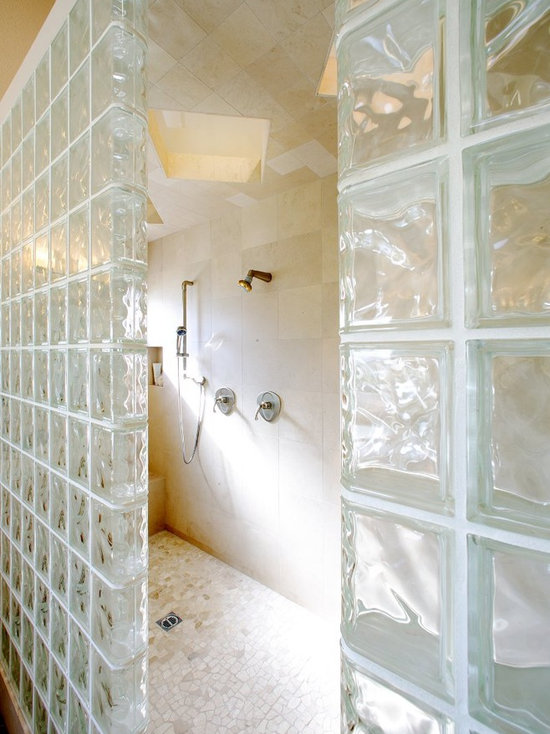 7806 glass block bathroom design photos