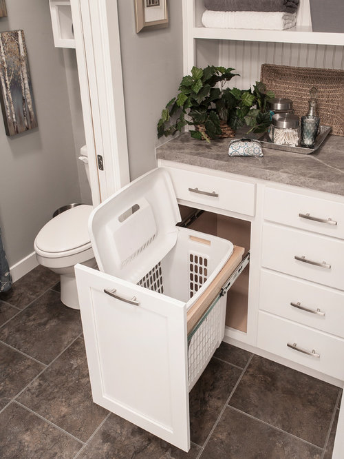 builtin laundry hamper ideas, pictures, remodel and decor,