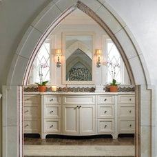 Mediterranean Bathroom by Benvenuti and Stein