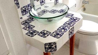 Custom Mexican Tile Bathroom