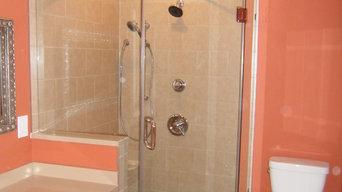Custom Neo-Angle Shower Door