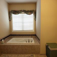 Transitional Bathroom by Mitch Harris Building Company, Inc.
