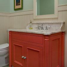 Beach Style Bathroom by Studio M Interiors