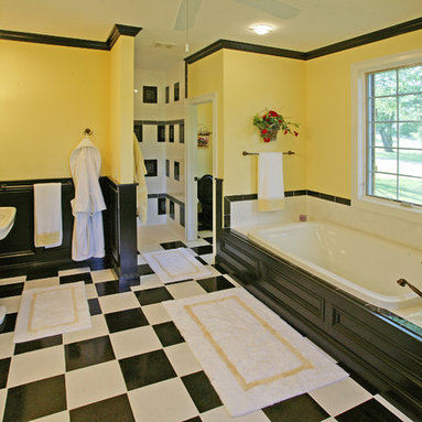 Yellow And Black Bathroom Design Ideas  Pictures  Remodel and Decor