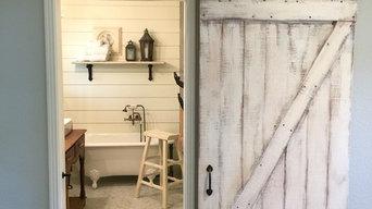 Custom Shabby Chic White Z Barn Door