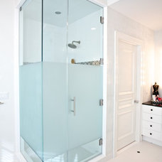 Contemporary Bathroom by GlassWorks of Summit