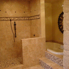 mediterranean bathroom by Design Floors