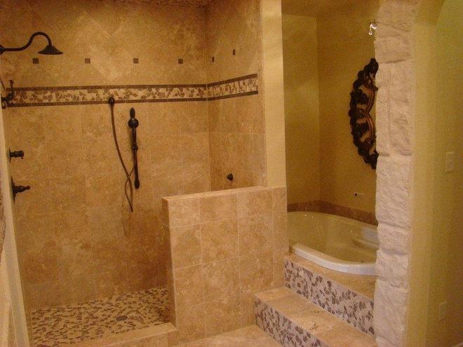 Mediterranean Bathroom by Design Floors