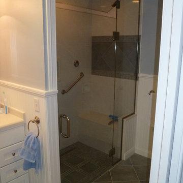 Custom Swanstone Steam Shower