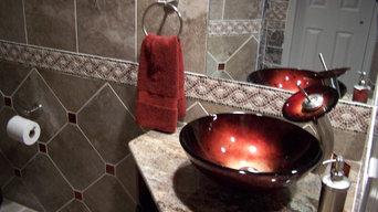 Custom Tile Bathroom with Walk in Shower