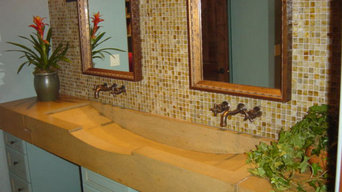 Custom Trough Sink with in-wall Faucets