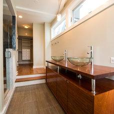 Contemporary Bathroom by Sarah J. Reed