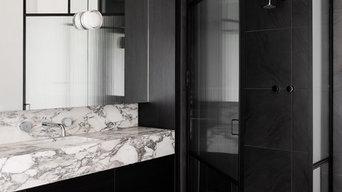 Custom Vanity and Shower Enclosure