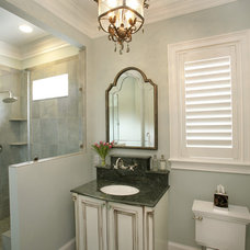 Traditional Bathroom by Custom Designs Cabinetry