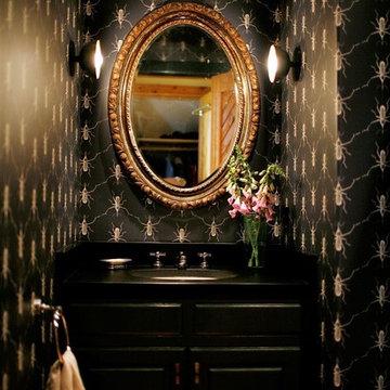 Custom Wall Papered Bathroom
