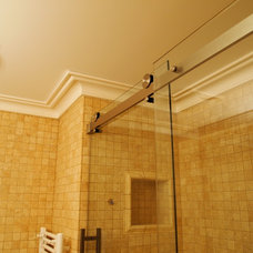 Transitional Bathroom by Crown Plaster Inc.