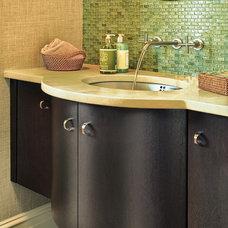 Contemporary Bathroom by Quality Custom Cabinetry, Inc