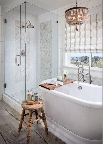 Farmhouse Bathroom by Tracy Lynn Studio
