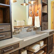 Industrial Bathroom by Elements Concrete