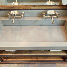 Industrial Bathroom by Elements Concrete