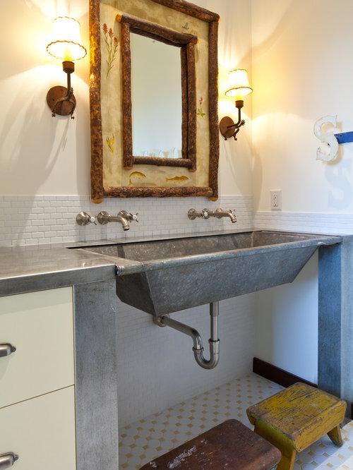Galvanized sink houzz for Galvanized tub kitchen sink