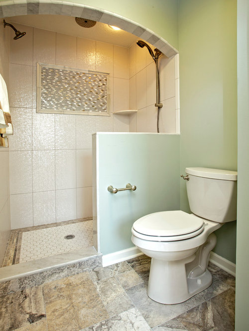 Medium sized bathroom design ideas renovations photos for Bathroom ideas medium